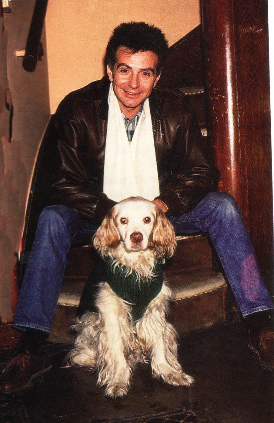 Gérard Rinaldi et son chien Brosby